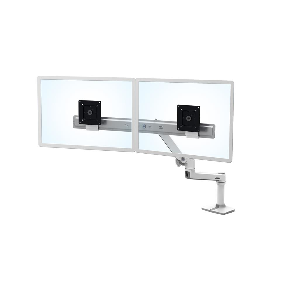ERGOTRON 45-489-216 LX DESK DUAL DIRECT ARM (WHITE)