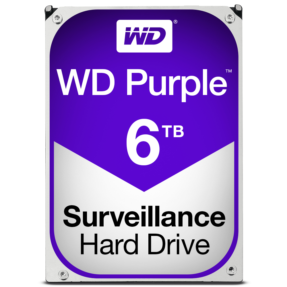 WESTERN DIGITAL PURPLE HDD 6000GB SERIAL ATA III INTERNAL HARD DRIVE