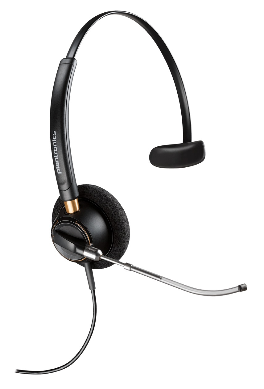 PLANTRONICS 89435-02 ENCOREPRO HW510V MONAURAL HEAD-BAND BLACK HEADSET