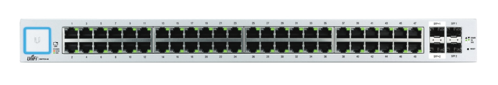 UBIQUITI NETWORKS US-48 UNIFI MANAGED NETWORK SWITCH GIGABIT ETHERNET 1U WHITE