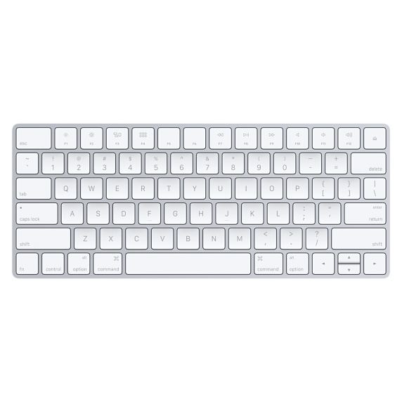 APPLE MLA22LB/A BLUETOOTH QWERTY US ENGLISH SILVER, WHITE KEYBOARD