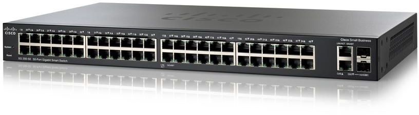 CISCO SG200-50FP-EU SMALL BUSINESS SG200-50FP MANAGED NETWORK SWITCH L2 GIGABIT ETHERNET POWER OVER (POE) BLACK