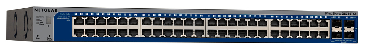 NETGEAR GS752TXS MANAGED NETWORK SWITCH L3