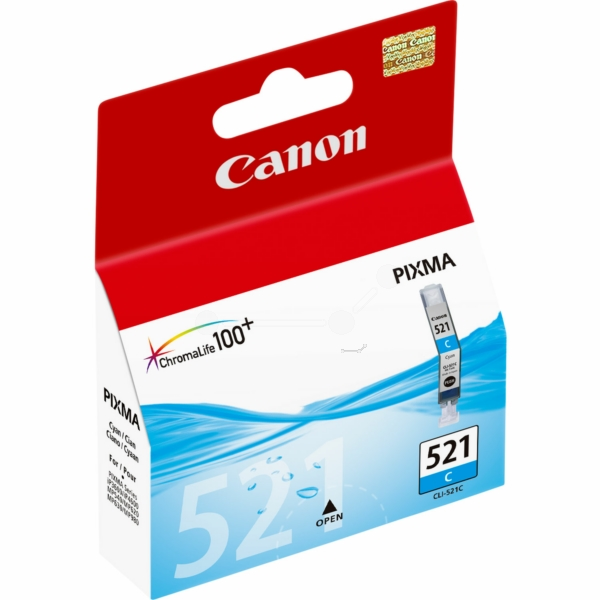 CANON 2934B001 (521 C) INK CARTRIDGE CYAN, 448 PAGES, 9ML