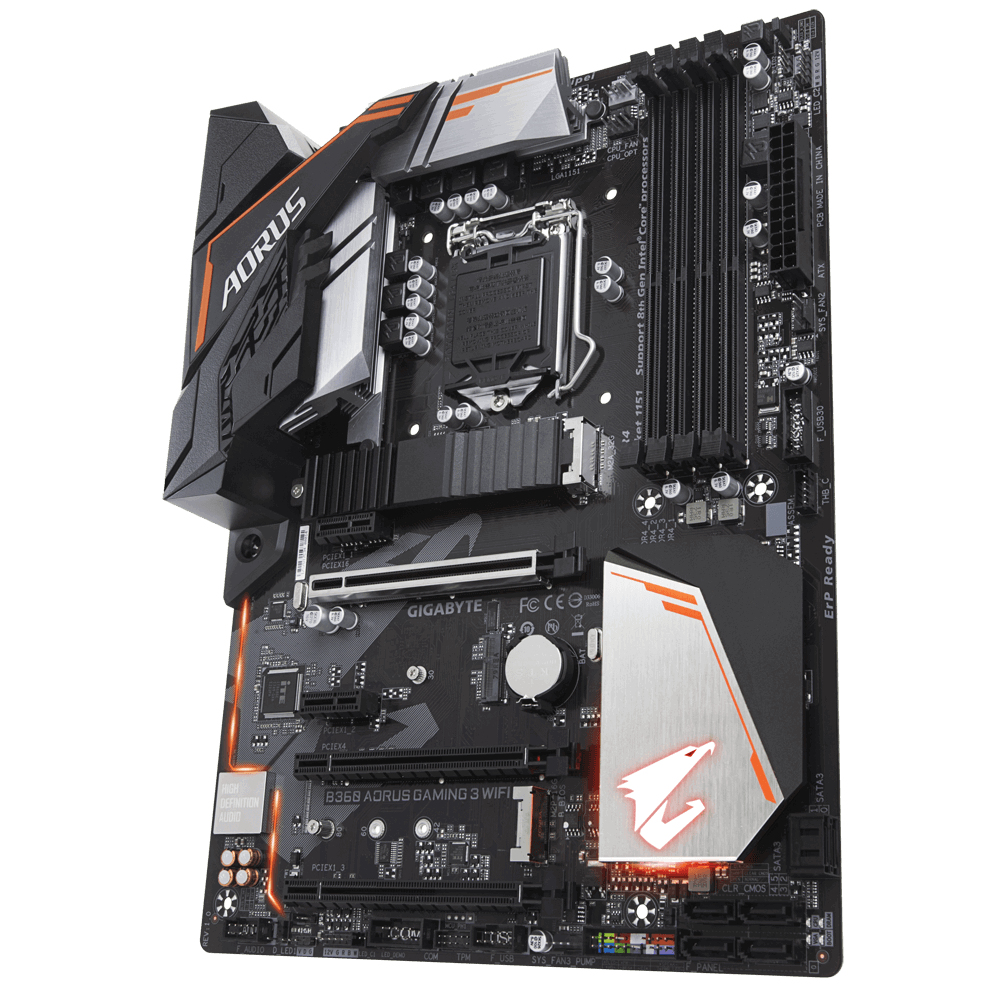 GIGABYTE B360 AORUS GAMING 3 WIFI INTEL LGA 1151 (SOCKET H4) ATX MOTHERBOARD