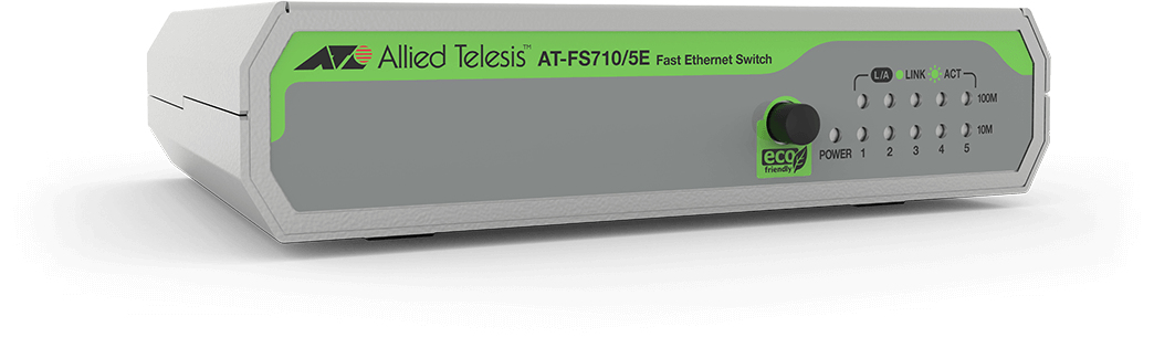 ALLIED TELESIS AT-FS710/5E-60 FS710 - 5E 5-PORT 10 100TX, 1GBPS, 0.74MPPS, 1.7W