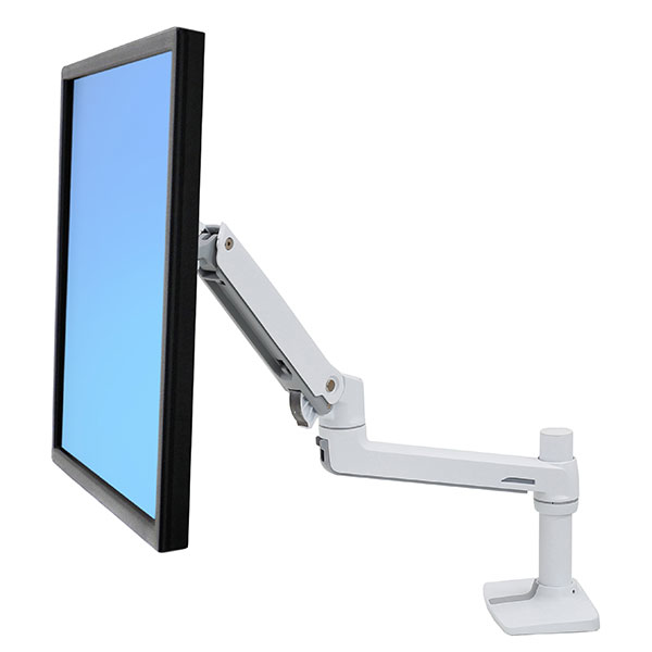 ERGOTRON 45-490-216 LX DESK MOUNT LCD MONITOR ARM (WHITE)