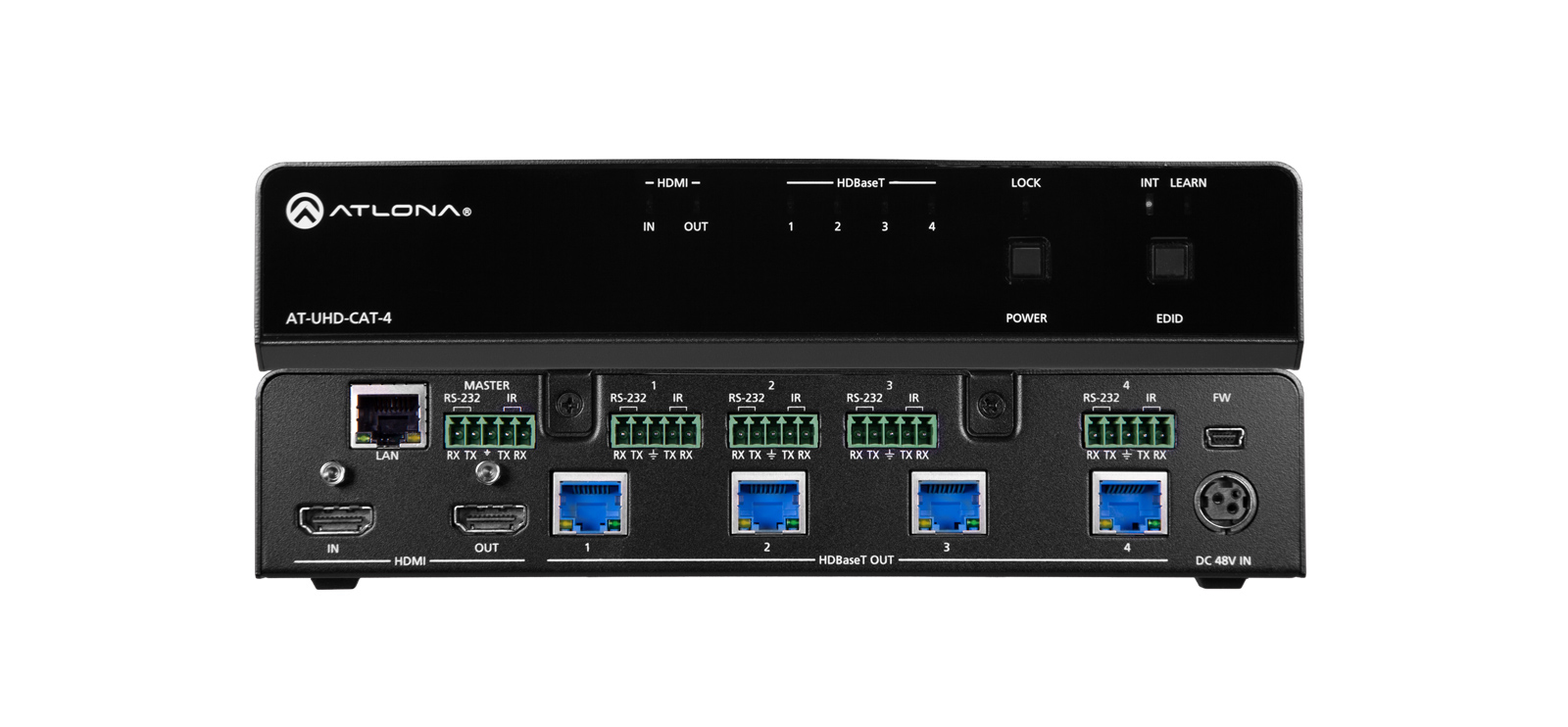 ATLONA AT-UHD-CAT-4 10.2 GBPS, 4K, CAT5E - 6 6A 7, HDMI, 44X222.25X261 MM