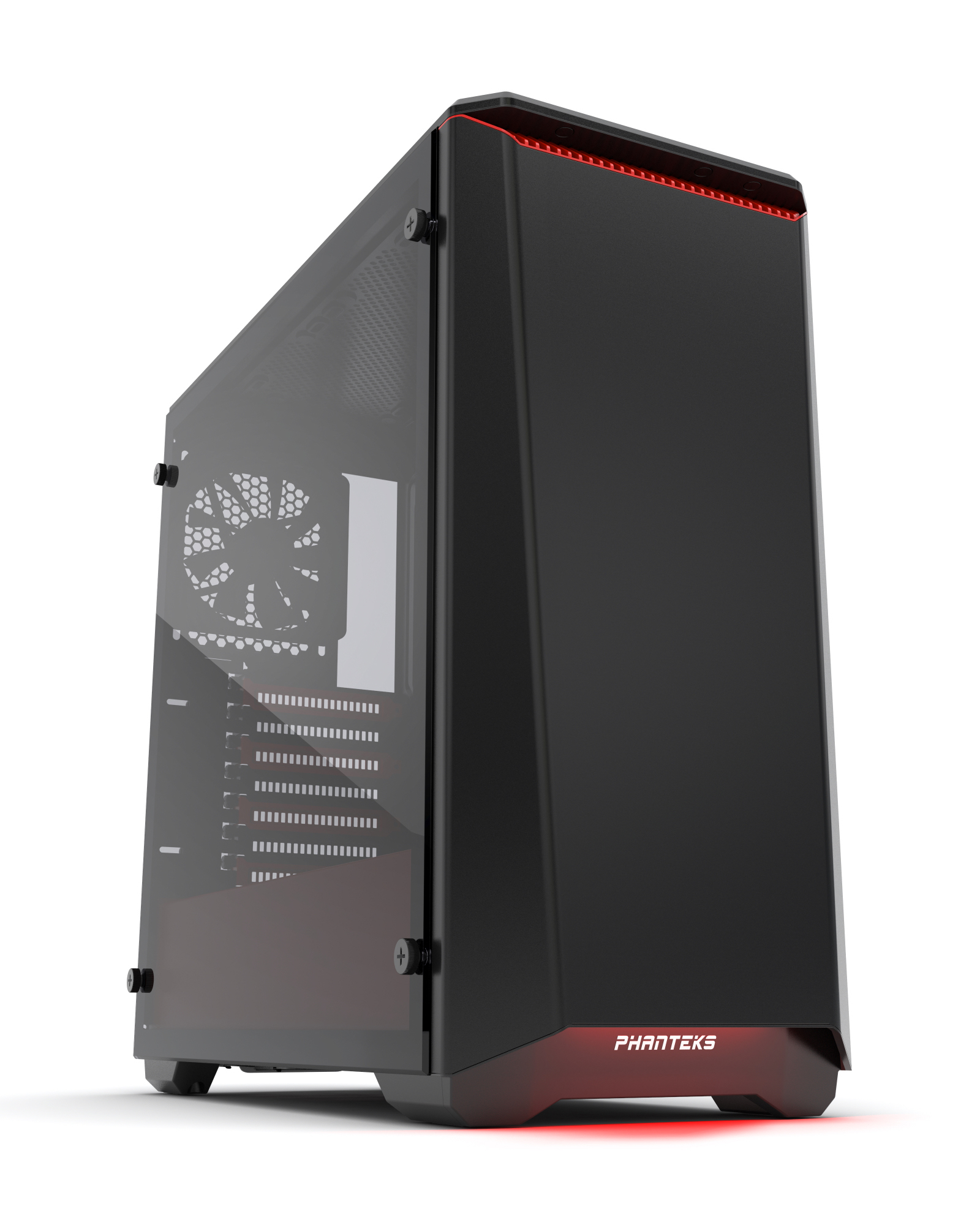 PHANTEKS PH-EC416PSTG_BR ECLIPSE P400S TEMPERED GLASS MIDI-TOWER BLACK,RED COMPUTER CASE