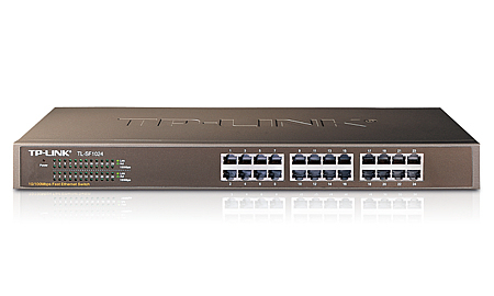 TP-LINK 24-PORT 10/100MBPS FAST ETHERNET SWITCH UNMANAGED NETWORK BLACK