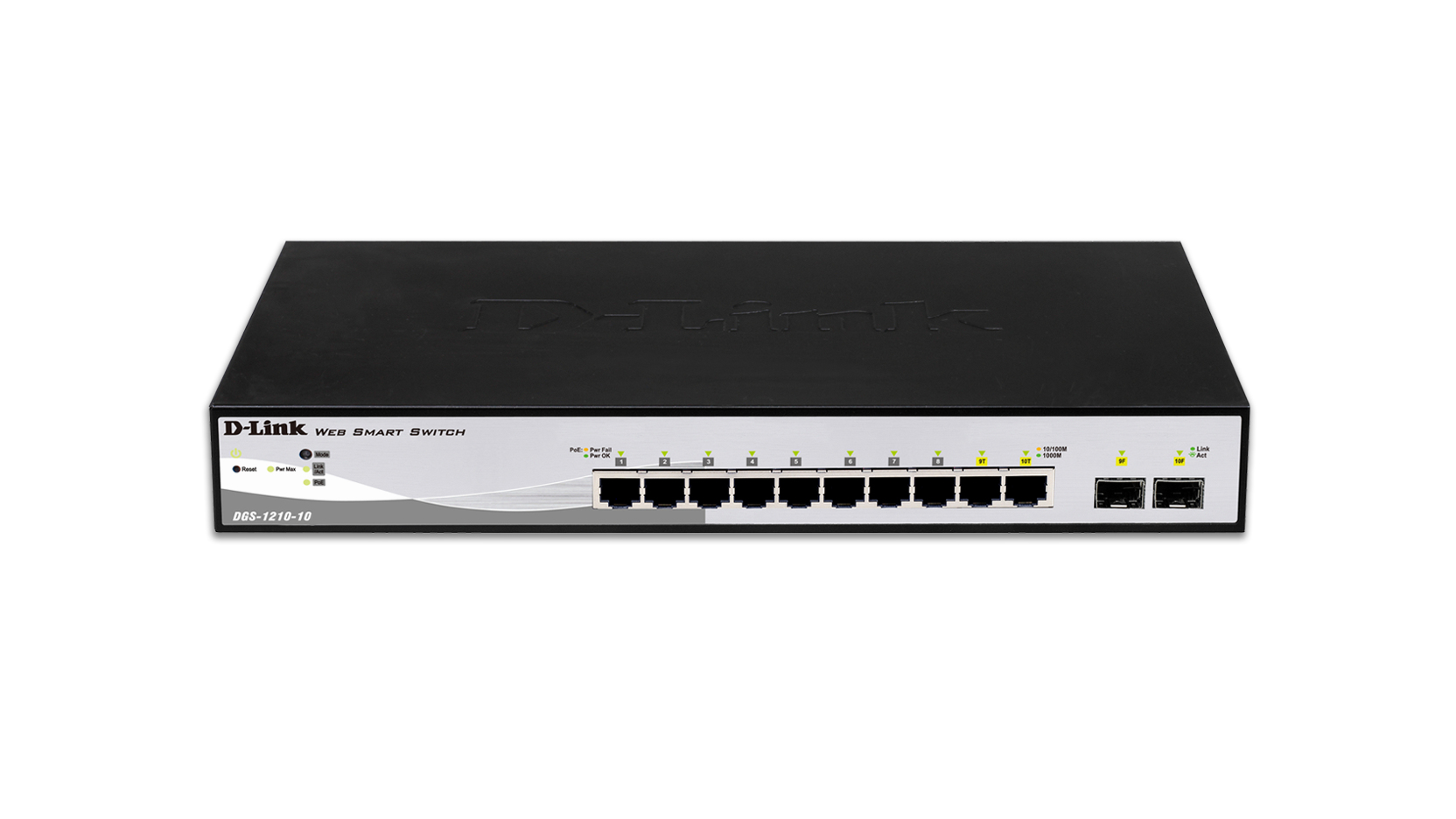 D-LINK DGS-1210-10 MANAGED NETWORK SWITCH L2 GIGABIT ETHERNET 1U BLACK, GREY