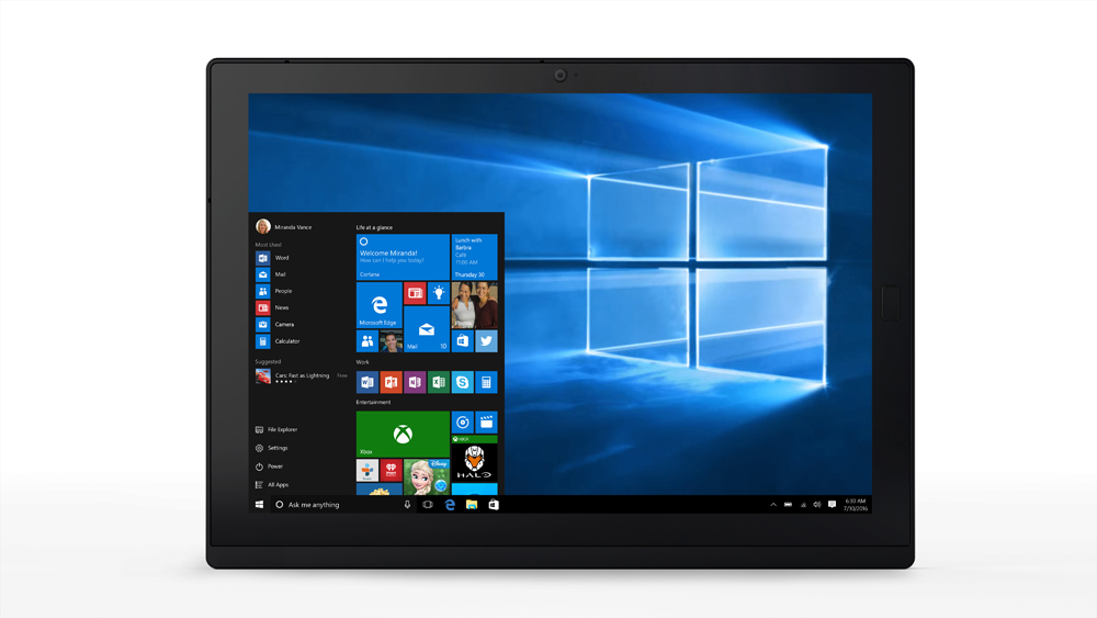 LENOVO 20JB0017UK THINKPAD X1 256GB BLACK TABLET