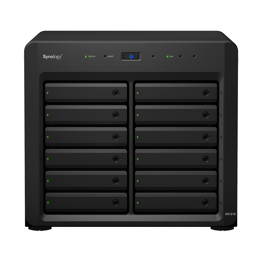 SYNOLOGY DX1215 STORAGE SERVER COMPACT BLACK