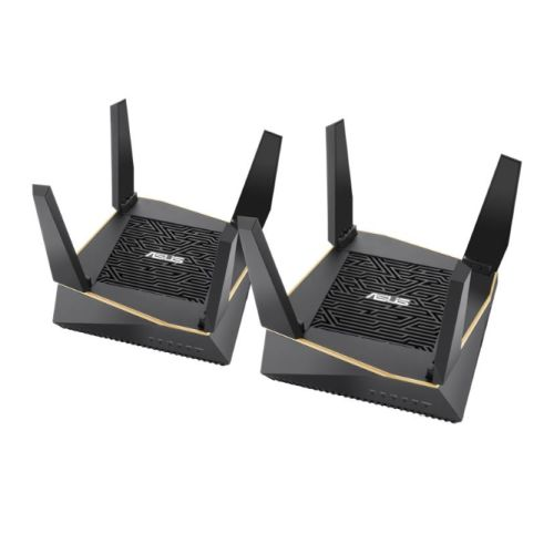 ASUS (RT-AX92U 2 Pack) AiMesh WiFi System, AX6100 (400+867+4804) Tri-Band, 802.11ax, AiProtection Pro, Fl