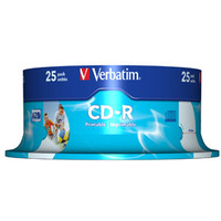 VERBATIM 43439 CD-R AZO WIDE INKJET PRINTABLE 700MB 25PC(S)