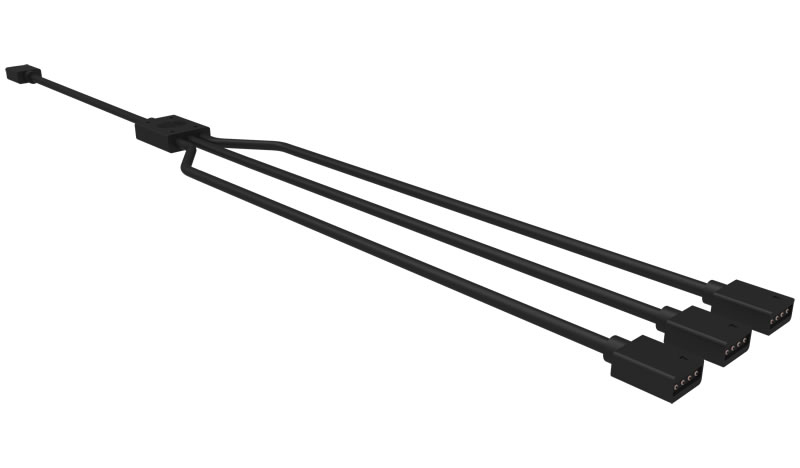 COOLER MASTER R4-ACCY-RGBS-R2 CABLE SPLITTER BLACK SPLITTER/COMBINER