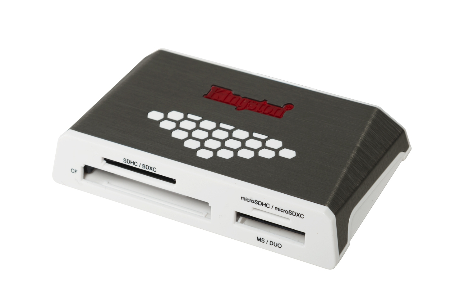 KINGSTON TECHNOLOGY USB 3.0 HIGH-SPEED MEDIA READER GREY,WHITE CARD