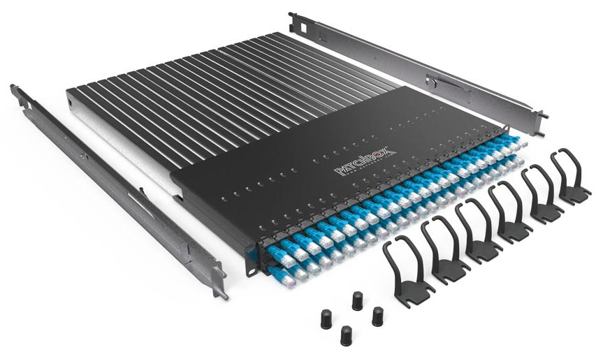 PATCHBOX P60UTPXC6XX24B PLUS+ SYSTEM UTP, 24 PORTS, 1RU, BLUE