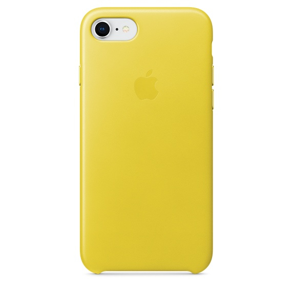 APPLE IPHONE 8 / 7 LEATHER CASE - SPRING YELLOW