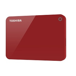 TOSHIBA CANVIO ADVANCE 1000GB RED EXTERNAL HARD DRIVE