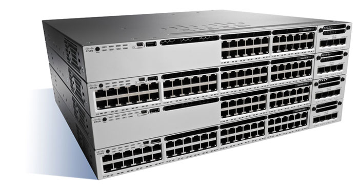 CISCO WS-C3850-24P-S CATALYST MANAGED POWER OVER ETHERNET (POE) BLACK, GREY NETWORK SWITCH