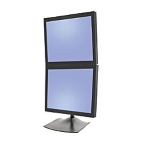 ERGOTRON 33-091-200 DS100 DUAL MONITOR DESK STAND, VERTICAL