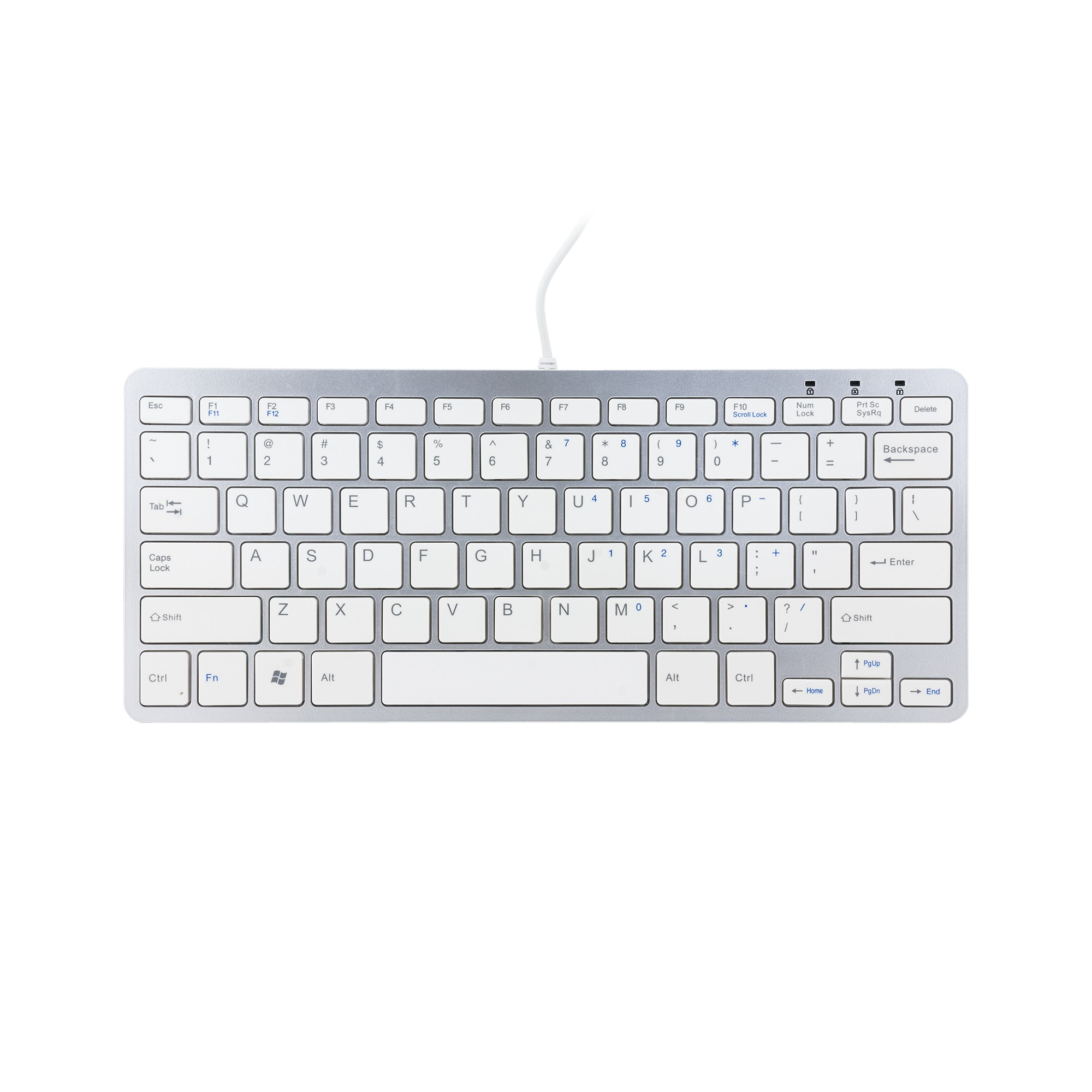 R-GO TOOLS RGOECQYW COMPACT KEYBOARD, QWERTY (US), WHITE, WIRED