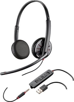 PLANTRONICS 204446-102 325 BINAURAL HEAD-BAND BLACK HEADSET
