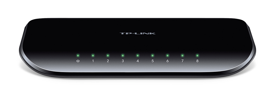 TP-LINK TL-SG1008D UNMANAGED NETWORK SWITCH GIGABIT ETHERNET (10/100/1000) BLACK