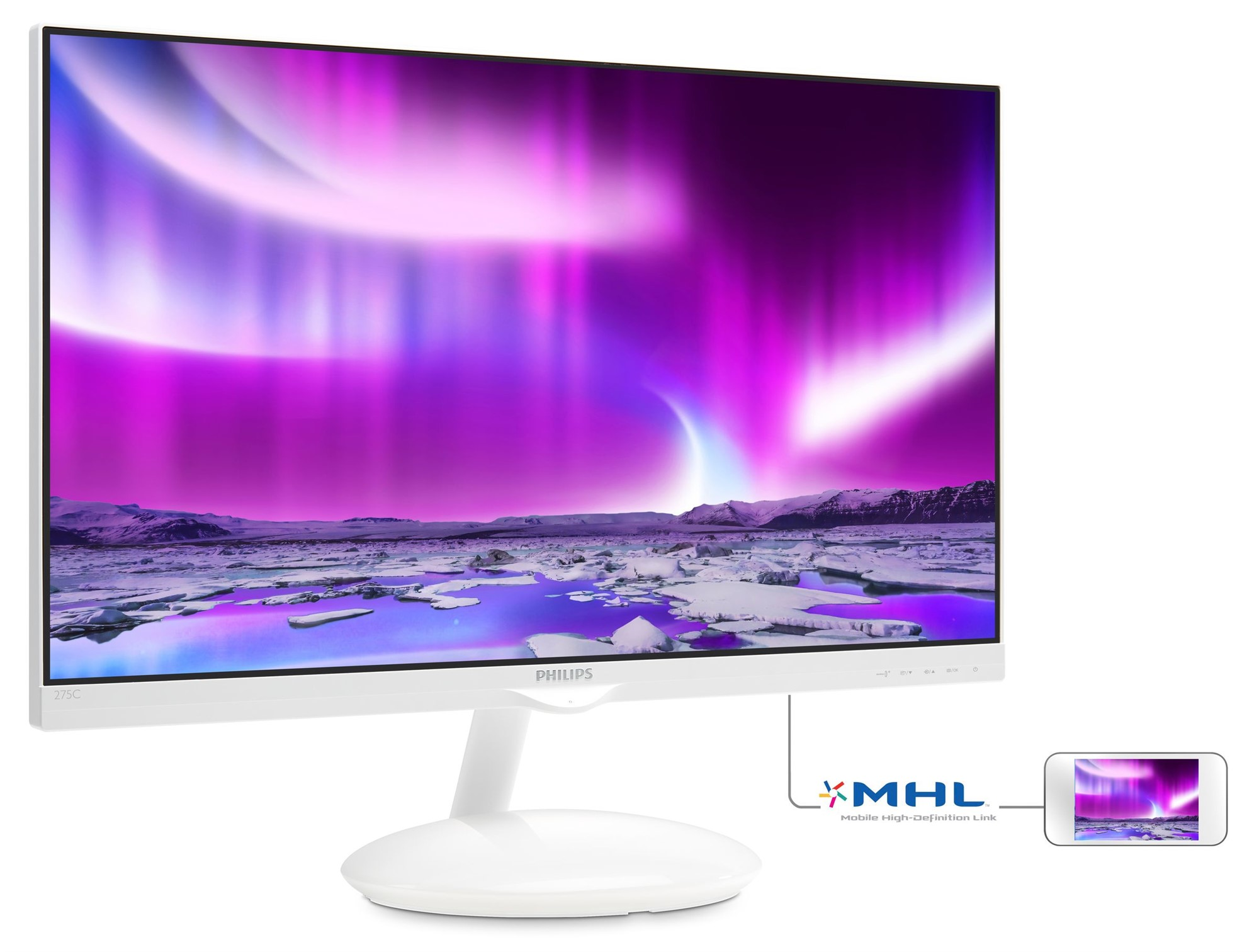 PHILIPS MODA LCD MONITOR WITH AMBIGLOW PLUS BASE 275C5QHGSW/00