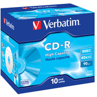 VERBATIM 43428 CD-R HIGH CAPACITY 800MB 10PC(S)