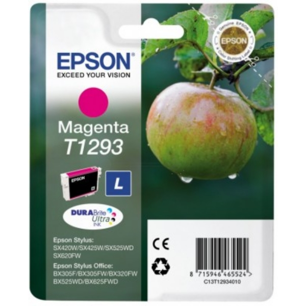 EPSON C13T12934022 (T1293) INK CARTRIDGE MAGENTA, 330 PAGES, 7ML