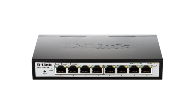 D-LINK DGS-1100-08 MANAGED NETWORK SWITCH GIGABIT ETHERNET (10/100/1000) BLACK