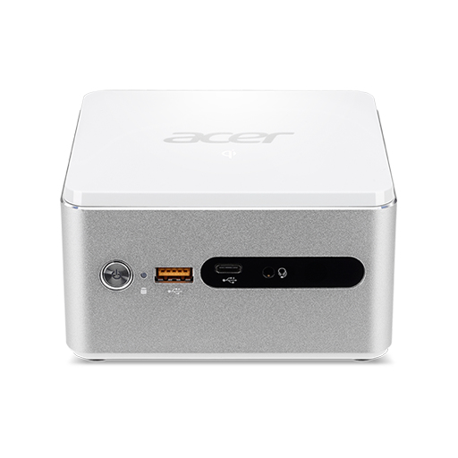 ACER REVO CUBE PRO VEN76G 2.7GHZ I3-7130U SMALL DESKTOP SILVER, WHITE MINI PC