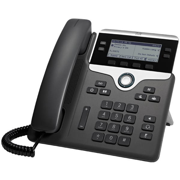 CISCO CP-7841-3PCC-K9= 7841 WIRED HANDSET 4LINES LCD BLACK, SILVER IP PHONE