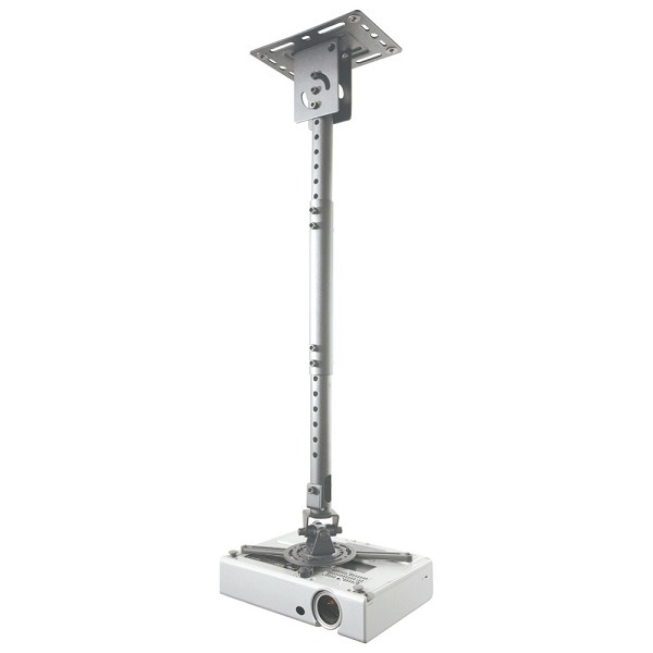 NEWSTAR BEAMER-C100SILVER UNIVERSAL PROJECTOR CEILING MOUNT, HEIGHT ADJUSTABLE (58-83CM) - SILVER