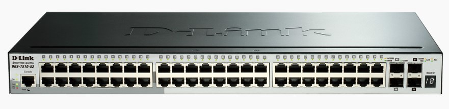 D-LINK DGS-1510-52 MANAGED NETWORK SWITCH L3 GIGABIT ETHERNET BLACK