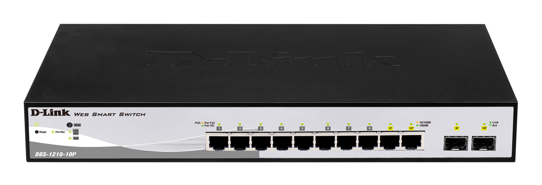 D-LINK DGS-1210-10P MANAGED POWER OVER ETHERNET (POE) 1U NETWORK SWITCH