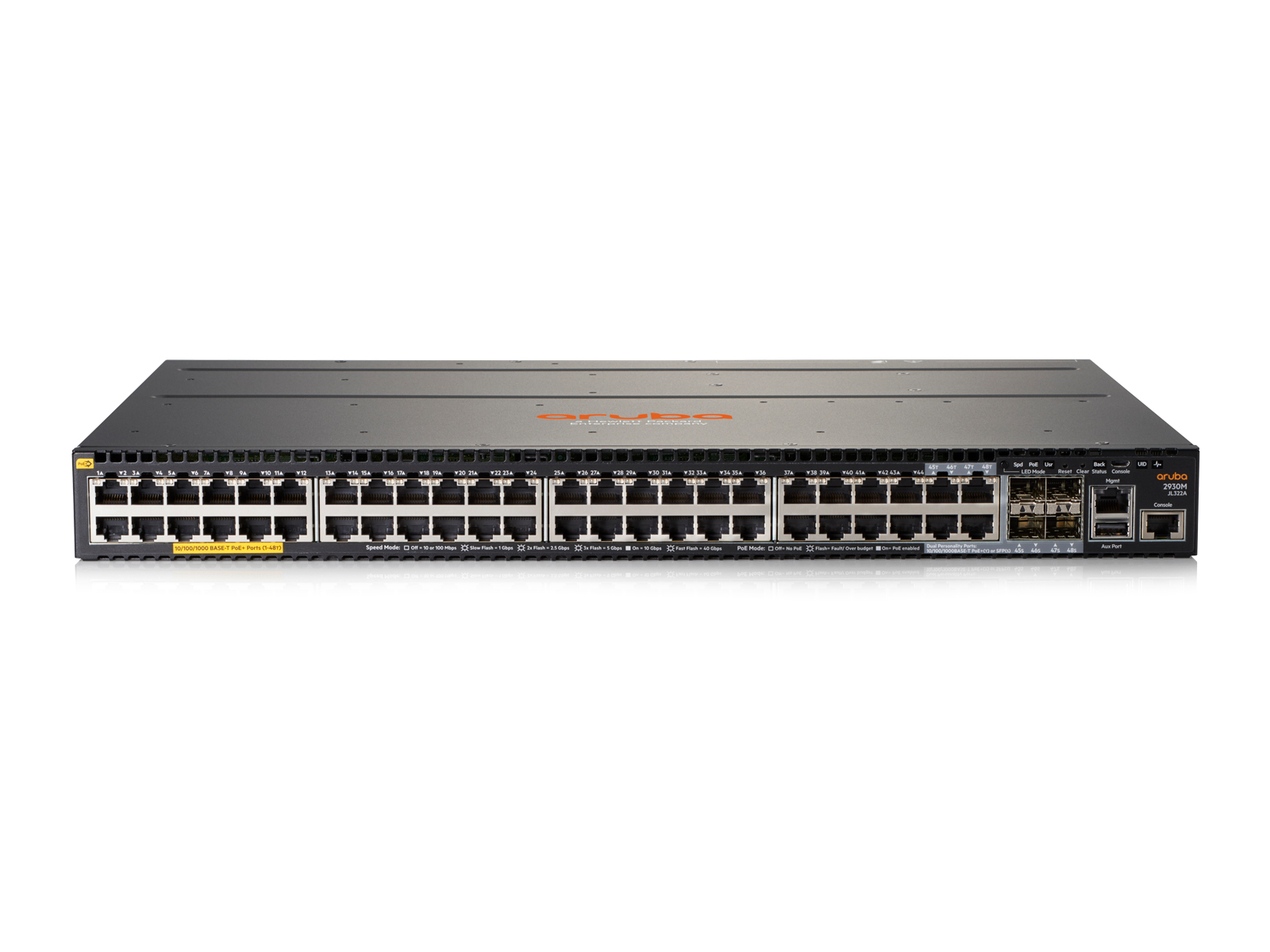 HPE JL322A ARUBA 2930M 48G POE+ 1-SLOT SWITCH