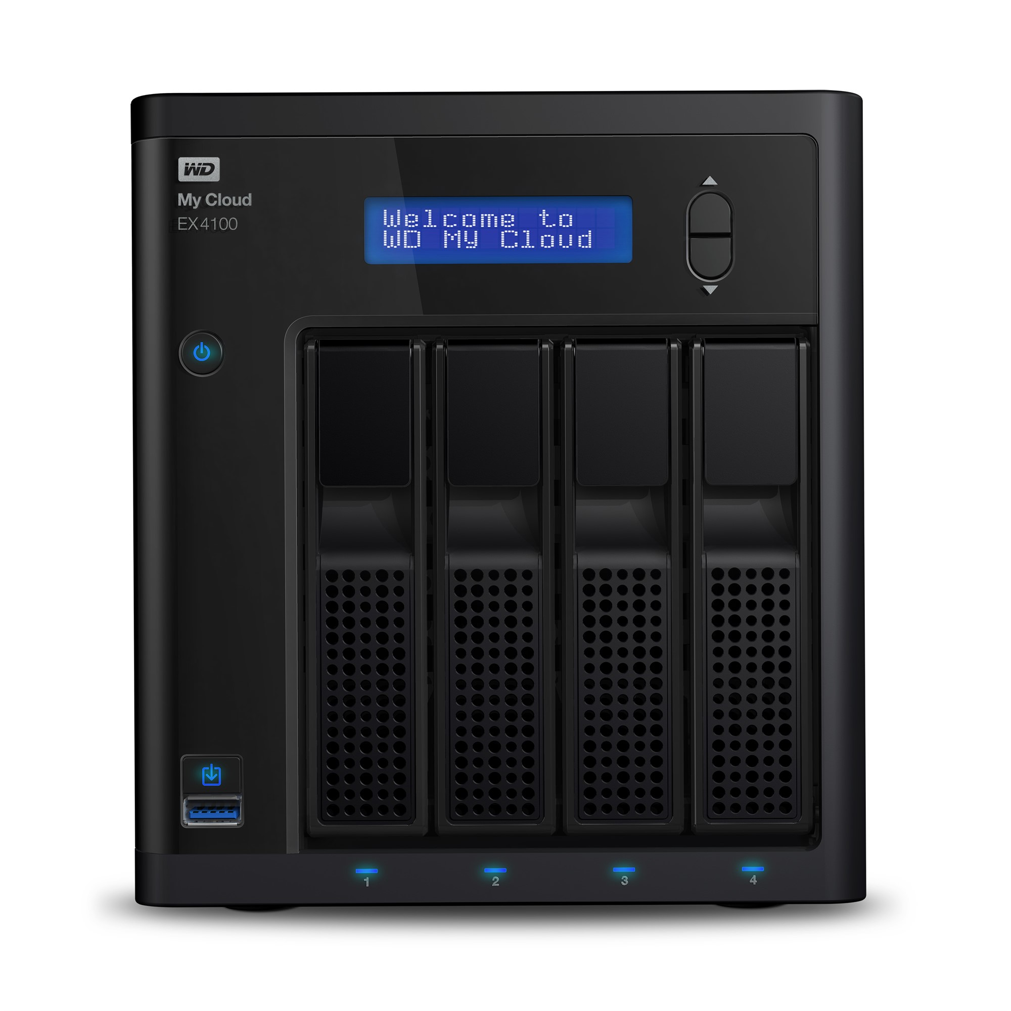 WESTERN DIGITAL MY CLOUD EX4100 NAS DESKTOP ETHERNET LAN BLACK