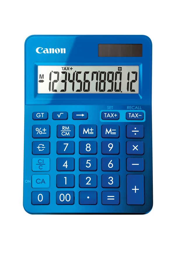 CANON LS-123K DESKTOP BASIC BLUE CALCULATOR