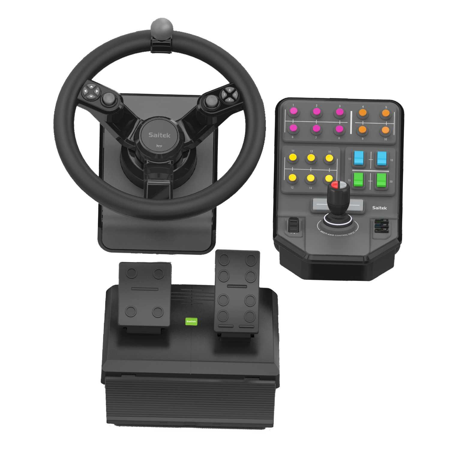 Logitech 945-000062 gaming controller Steering wheel + Pedals Black