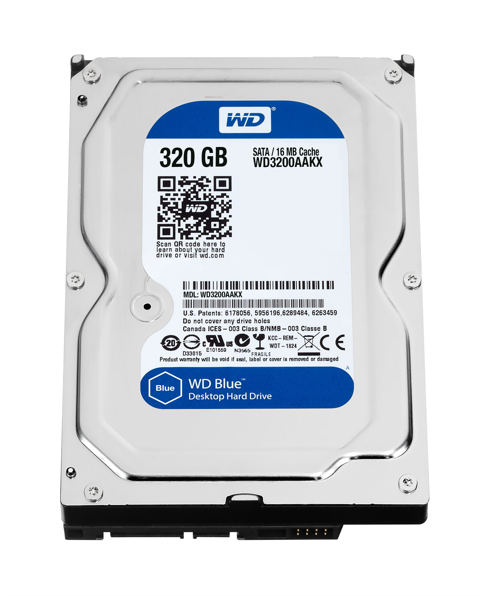 WESTERN DIGITAL BLUE 320GB SERIAL ATA INTERNAL HARD DRIVE REFURBISHED