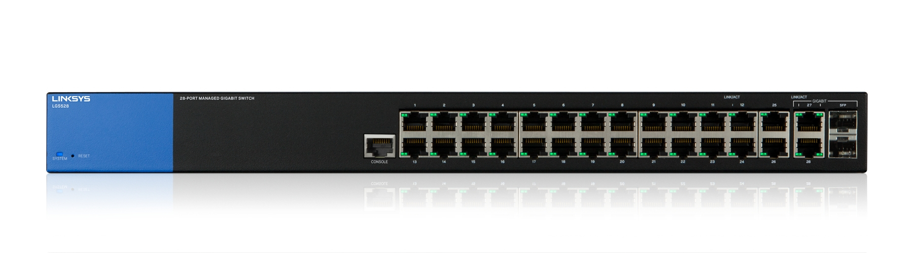 LINKSYS 28-PORT MANAGED GIGABIT SWITCH (LGS528)