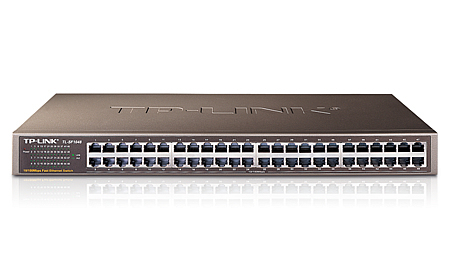 TP-LINK 48-PORT FAST LAN UNMANAGED NETWORK SWITCH ETHERNET (10/100) GREY