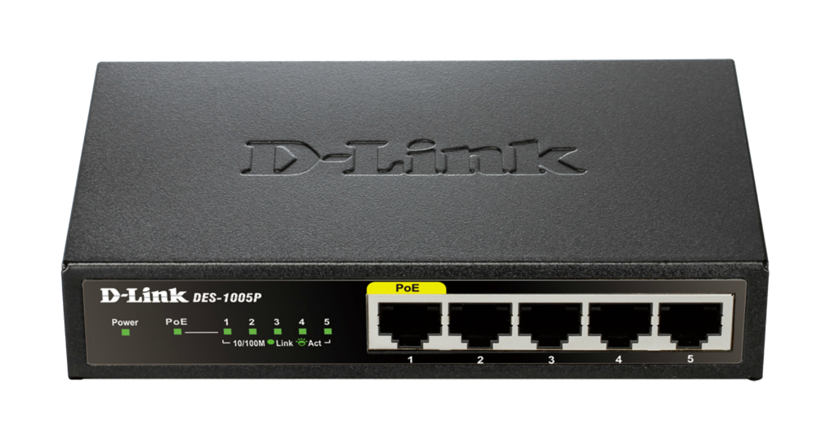 D-LINK DES-1005P/E UNMANAGED NETWORK SWITCH L2 FAST ETHERNET (10/100) POWER OVER (POE) BLACK