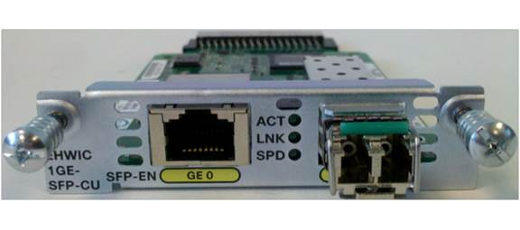 CISCO NIM-1GE-CU-SFP= GIGABIT ETHERNET NETWORK SWITCH MODULE