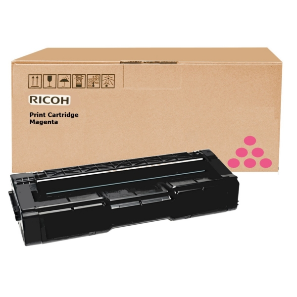 RICOH 406350 (TYPE SPC 310 HE) TONER MAGENTA, 2.5K PAGES @ 5% COVERAGE