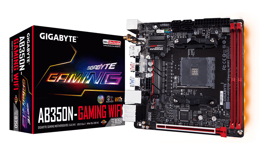 GIGABYTE GA-AB350N-GAMING WIFI AMD B350 SOCKET AM4 MINI ITX