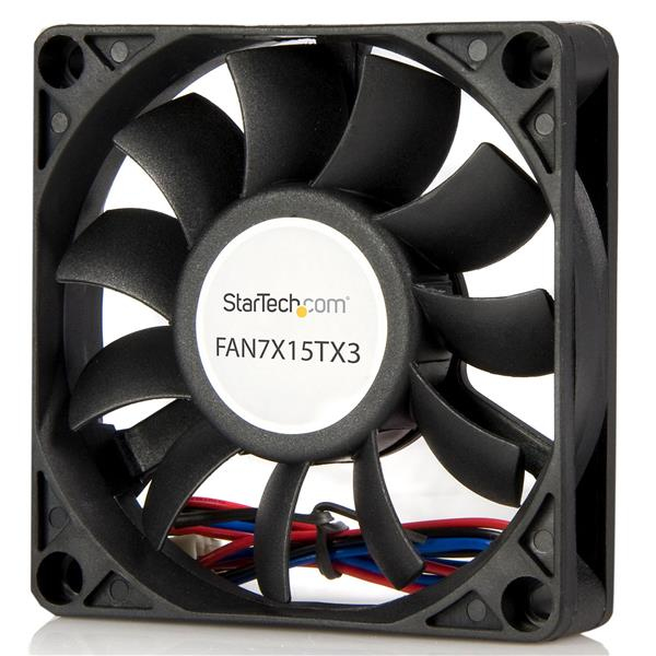 STARTECH FAN7X15TX3 70X15MM REPLACEMENT BALL BEARING COMPUTER CASE FAN W - TX3 CONNECTOR 3 PIN 70MM